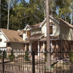Загородный дом сайдинг и кирпич
